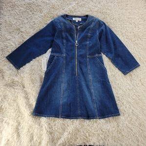 NWT Aritzia Denim Forum Jean Dress Blue 8